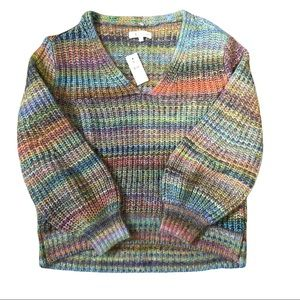 NWT Lou & Grey Multi Color Knit Sweater